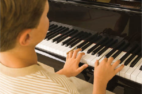 We offer lessons for piano, guitar, ukulele, percussion, voice.