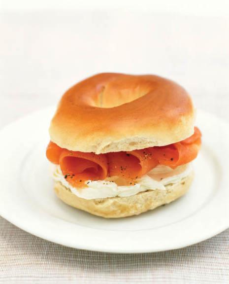 bagel, sandwich, breakfast