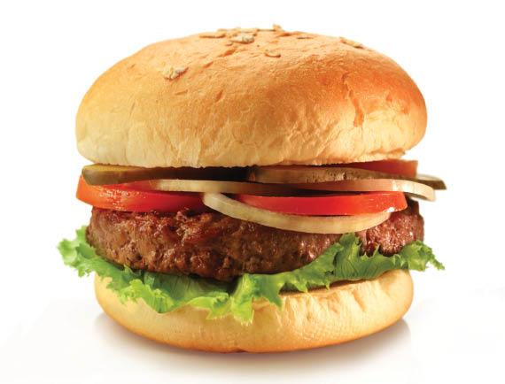 Angus hamburger; M.A. Burger & Shakes Company; South Elgin, IL