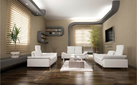 Modern window treatments in many colors and neutrals