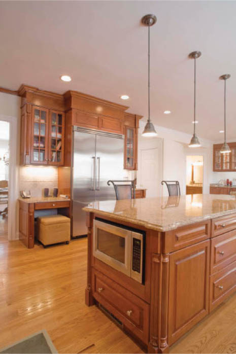 wood cabinet refinishing; natural stained and lacquered cabinets Atlanta