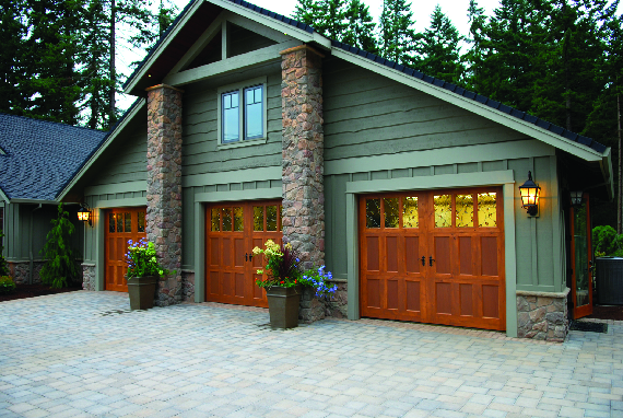 We can install new replacement single or double garage doors