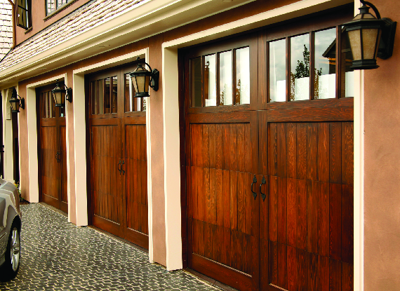 many different styles & materials of garage doors to choose from