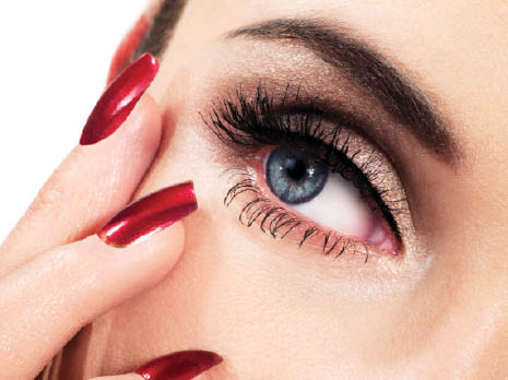 Blue Sky Lounge Spa and Salon manicures eye lash and brow coloring and eye lash extensions