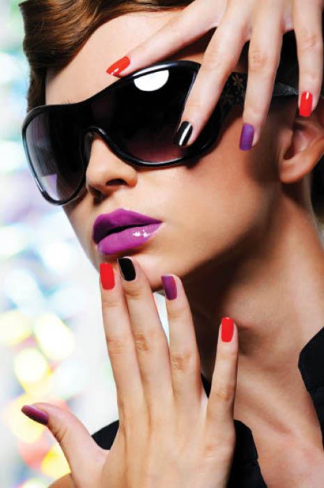 Nail salon manicure