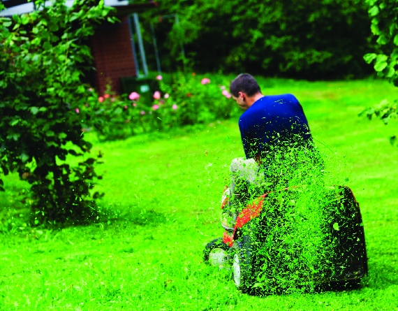 Picture of lawn being mowed by Earth Concepts Lawn Maintenance in Livonia, MI