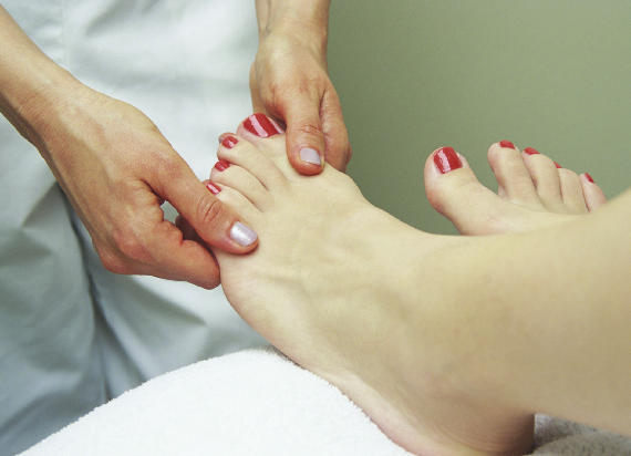 Foot exam by Podiatrist