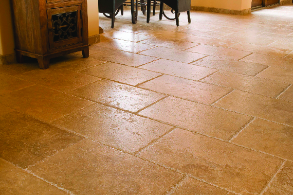 Shiny tile floors after professional floor cleaning near Santa Clarita