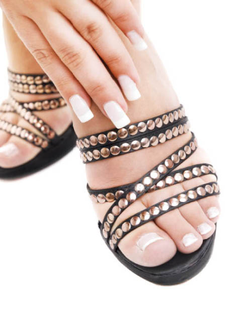 French manicure and pedicure; nail salons in Omaha, NE; Manicure coupons.
