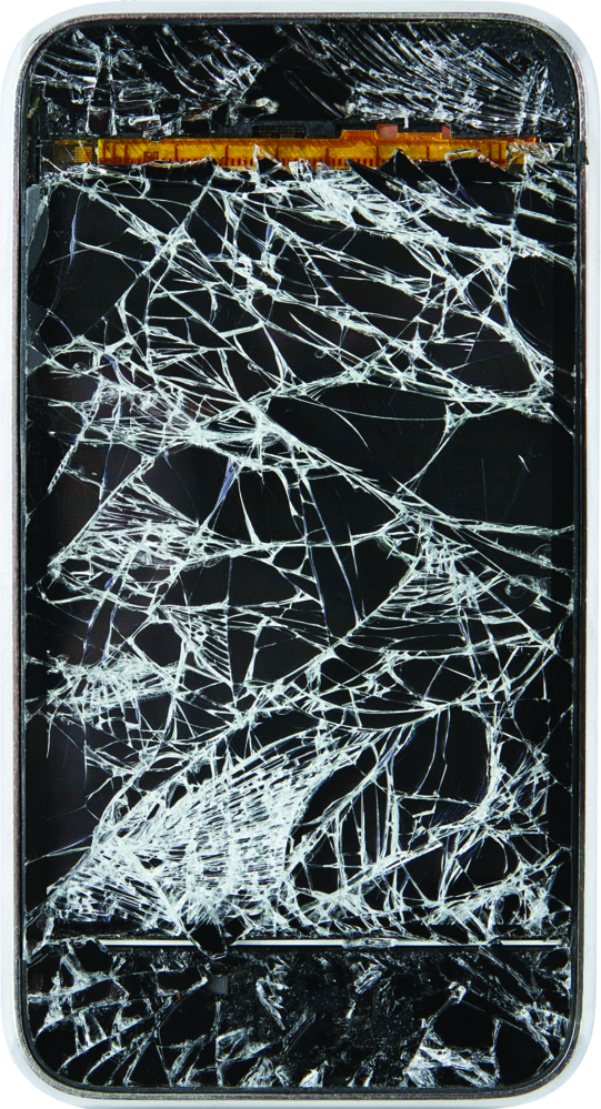 Cracked smart phone screen repair at Batteries Plus Bulbs in Prescott Valley, AZ