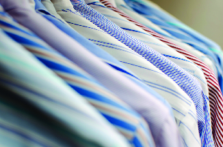 North Coast Cleaners specializes in dry cleaning work shirts; San Diego dry cleaners