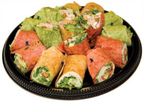 catering, party trays, wraps, food