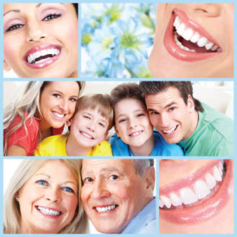 collage of different people of all ages smiling; DS Dentures and Implant Solutions in Olive Branch, MS