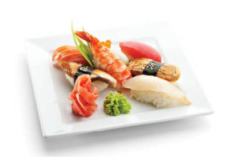 Sushi platters made fresh when ordered