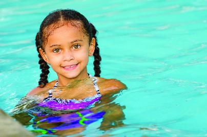Child in Bass Pool in NE FL