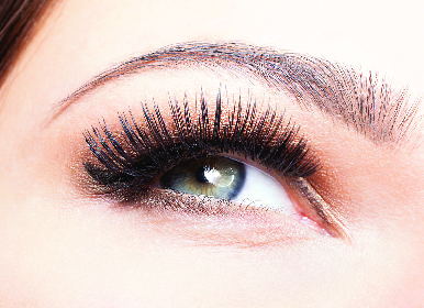 Long lush eye lashes