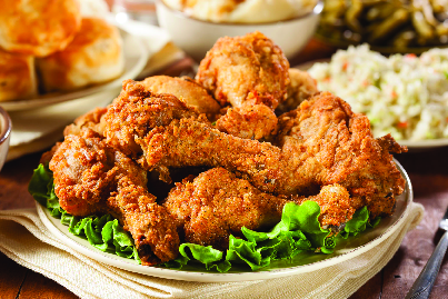 fried chicken, sides, dinner, lunch