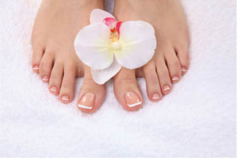 French pedicure from VN Nails in Tucson