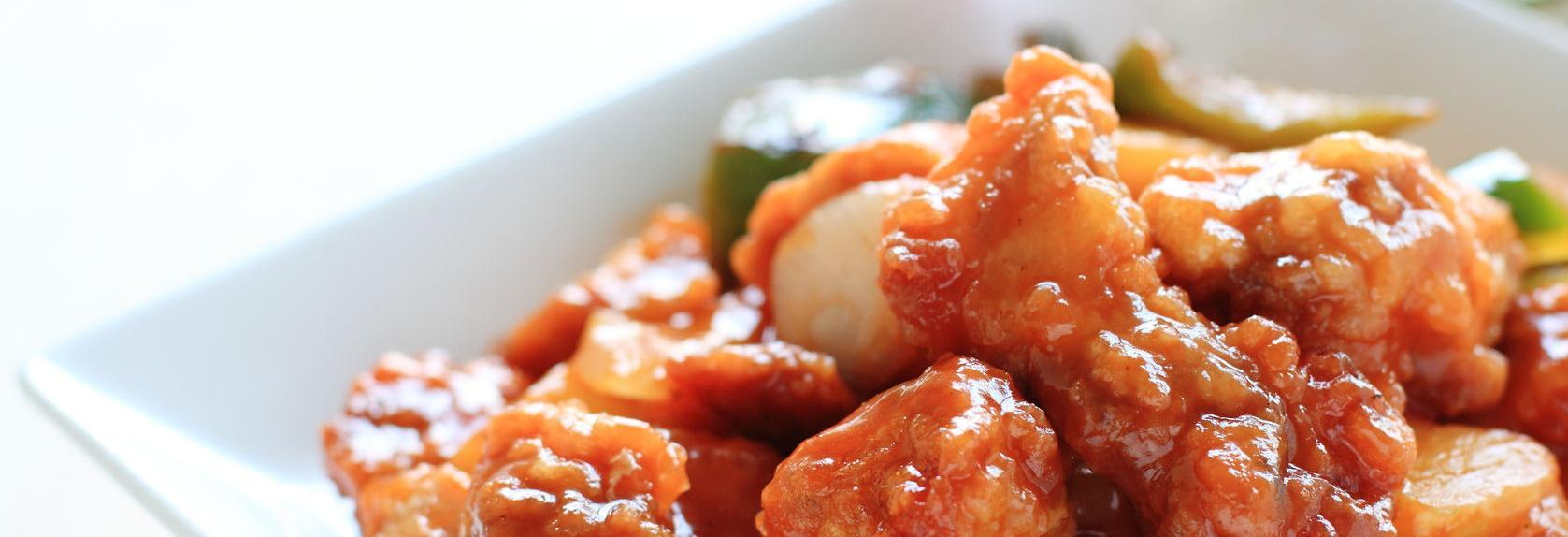 City Chopsticks sweet and sour pork plate banner