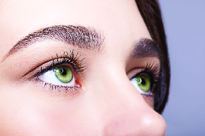 Cosmetic eyebrow tattooing, shading and hair-stroking creates stunning eyebrows