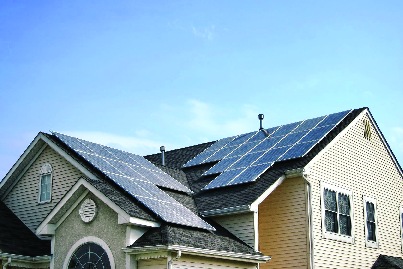 Solar panels can be installed on any roof of a home, Carport or shed as long as the sun hits the surface