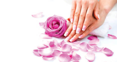 pink & white nails from Sol Nails & Spa in Surprise, Arizona