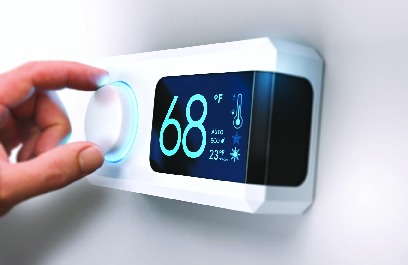 thermostat, hot, cold, heating, cooling