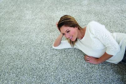 homeowner resting on freshly cleaned carpet