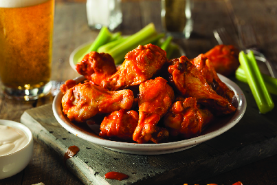 Hot wings by the dozen