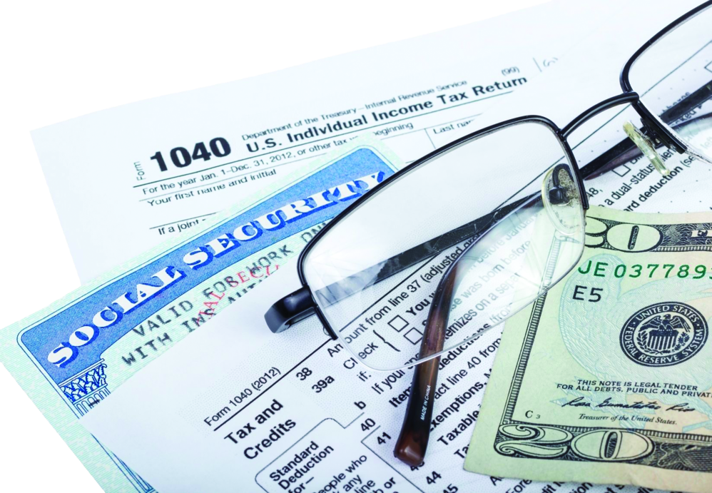 Individual tax filing from 1040 form