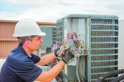 Outdoor HVAC system repairs near Jacksonville