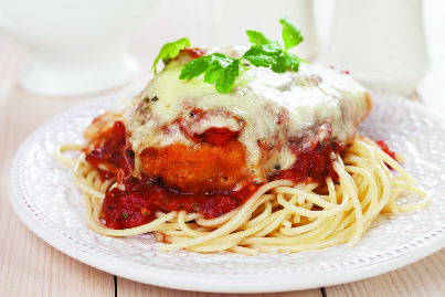 Spaghetti & Meat Sauce with Chicken