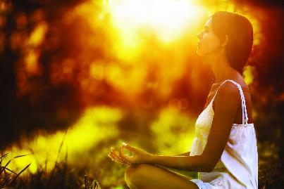 morning meditation in the park