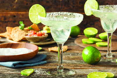 Salty Margarita with lime