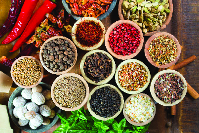 Asian spices to be used in traditional Chinese recipes
