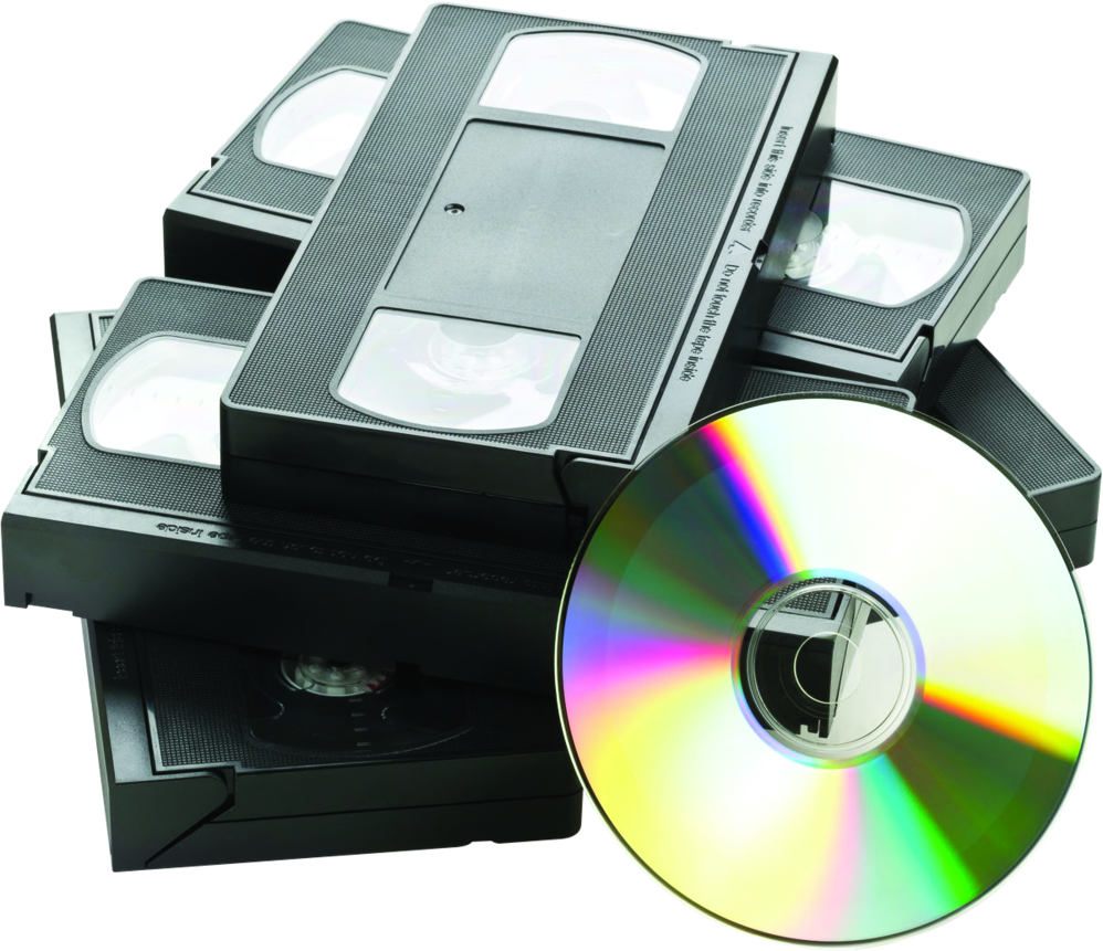 vhs tapes and CDs