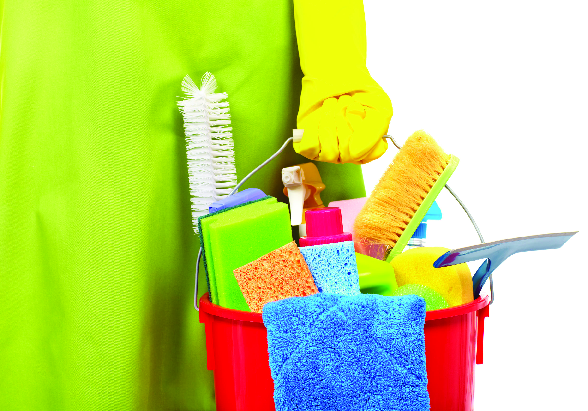 Cleaning supplies for the home