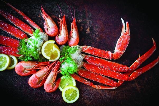 delicious shrimp and crab legs