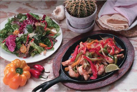 Fajitas mexican cuisine full bar Palacio Maya