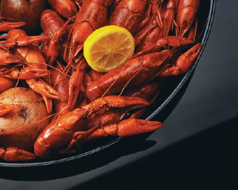 Plentiful crawfish cooked Cajun Style