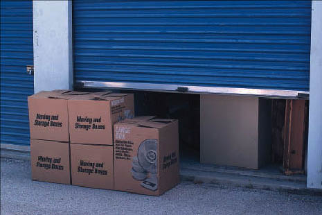Storage boxes in climate-controlled units