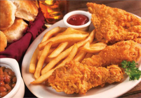 You'll lick your fingers when you taste our chicken fingers