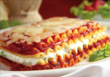 Layered lasagna plated