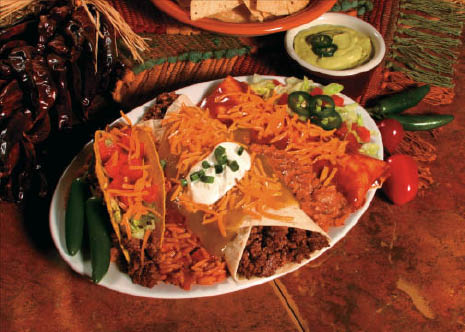 Trio of Mexican foods