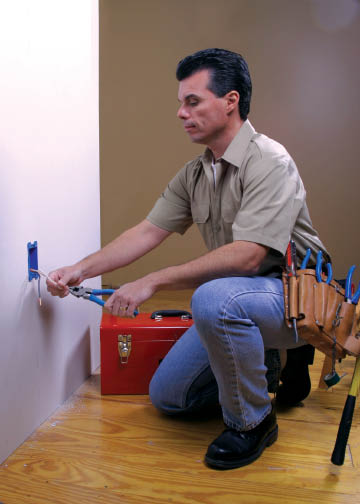 Our professional electricians perform household electrical repairs and installations