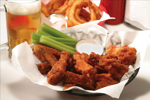 Our special Buffalo Chicken Wings called, Alien Wings