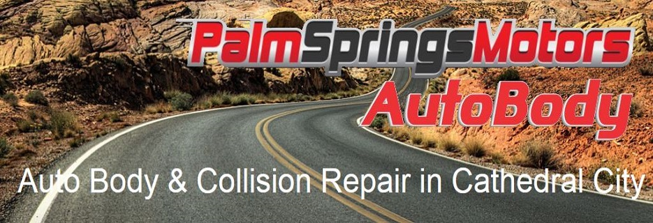 Palm Springs Motors AutoBody in Cathedral City Banner ad