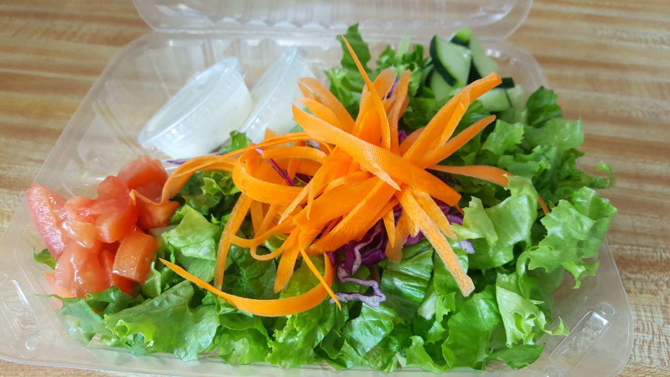 Add a salad to your Pizza or Nachos at pizzavsburrito