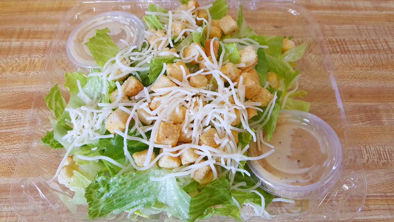 Add a ceaser salad to make it a pizza combo at pizzavsburrito