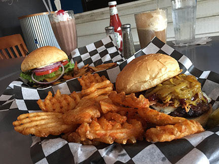 Old fashioned juicy burgers and flavor rich shakes